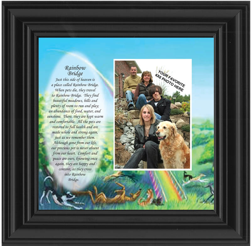 Pet Picture Frame With Rainbow Bridge Poem