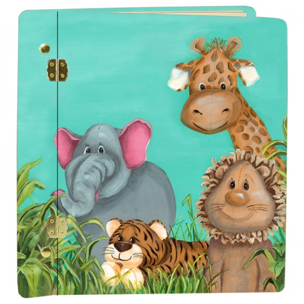 Hand Painted Animals Keepsake album for Little Boy