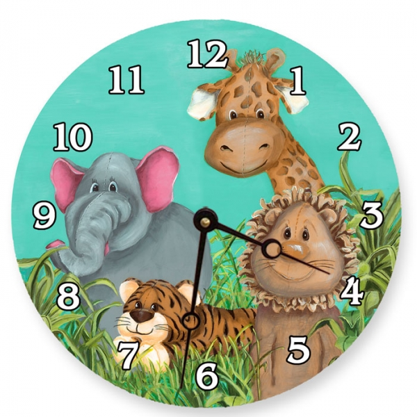 childs zoo wall clock