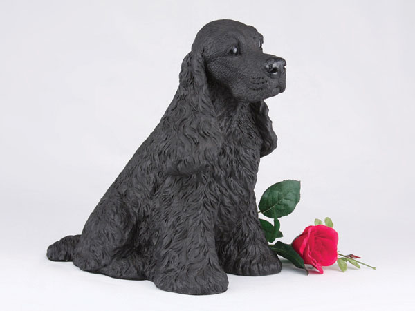 black cocker spaniel urn