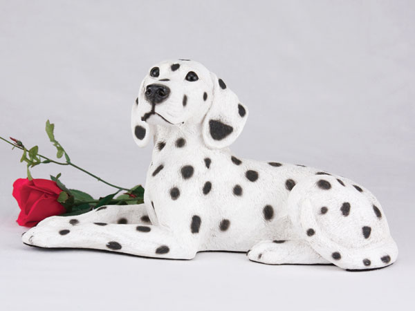 Dalmation figurine urn