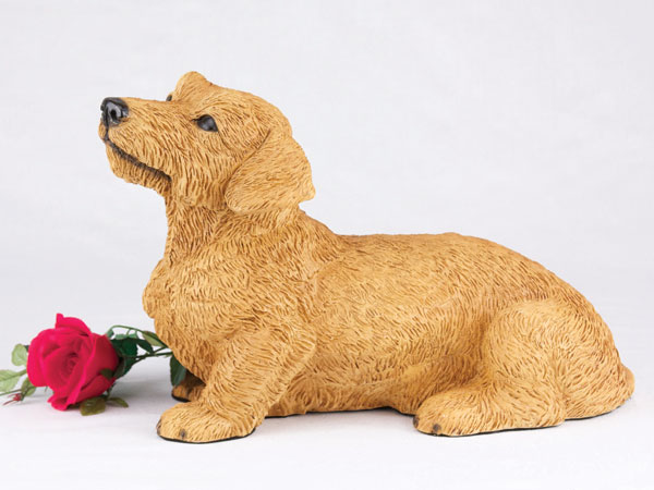 Dachshund wirehaired dog urn
