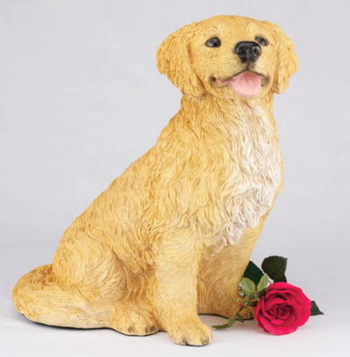 Golden Retriever figurine urn