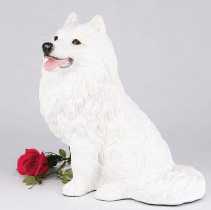Samoyed dog cremation urn