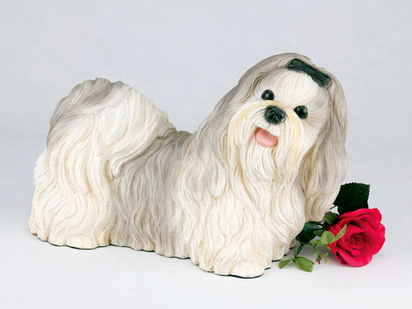 gray ShihTzu Dog Urn