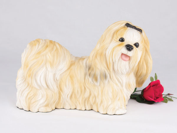Gold ShihTzu Dog Urn