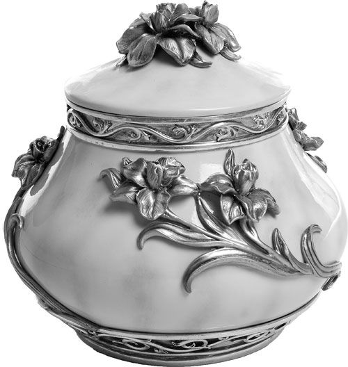 Pewter Flowers Urn