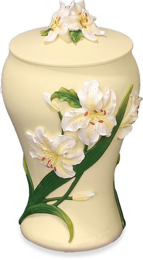 Flower keepsake urn Brass Urns Polystone Flower Urns Polystone Angel Urns