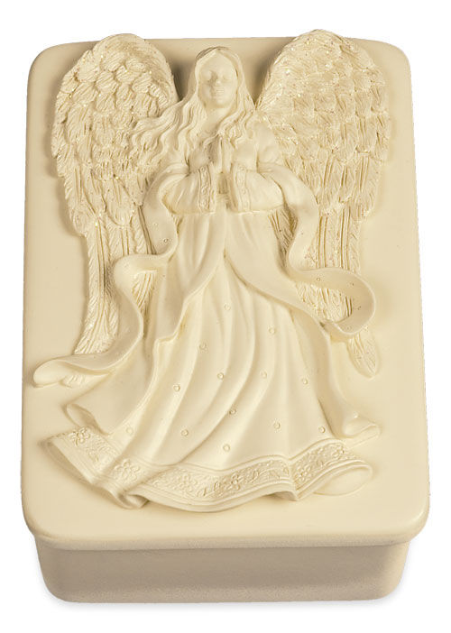 Angel Holding Flowers Keepsake Box