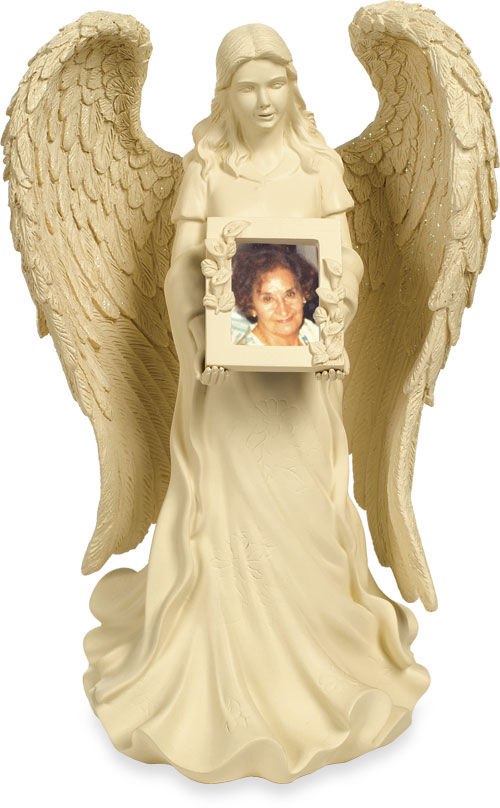 angel star picture frame urn