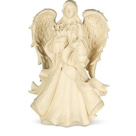 angel with flowers urn