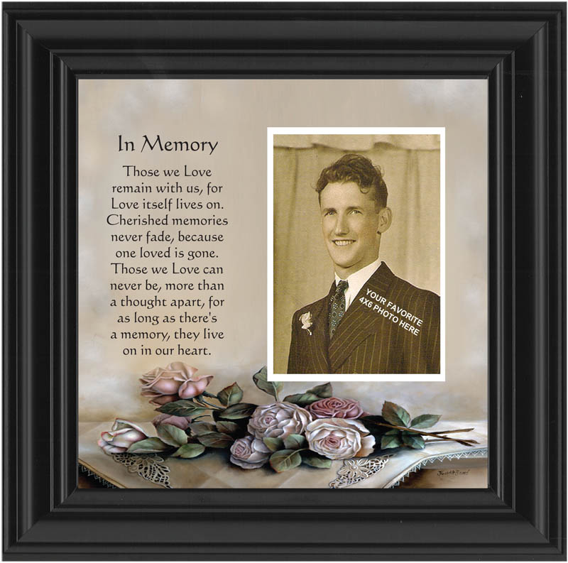 In Memory Poem and Photo frame memorial