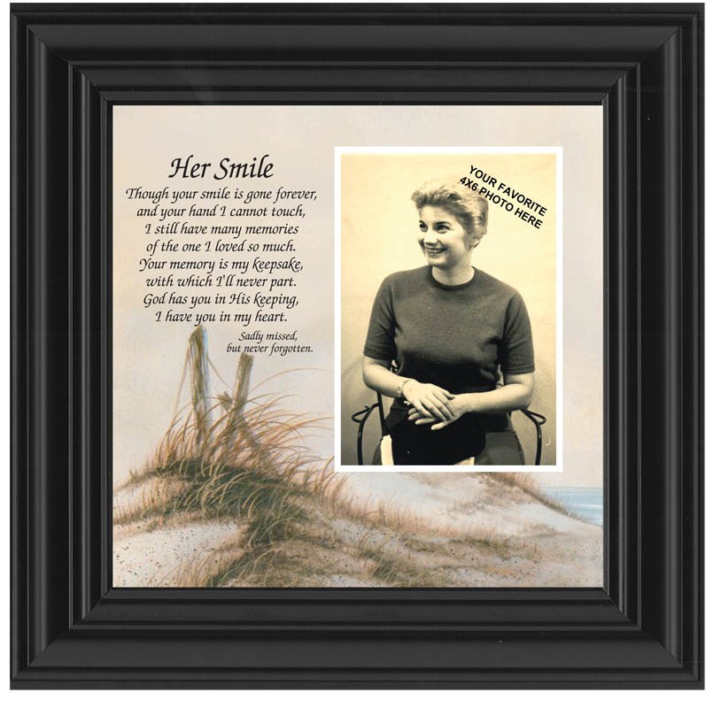 Her Smile memorials picture frame and poem