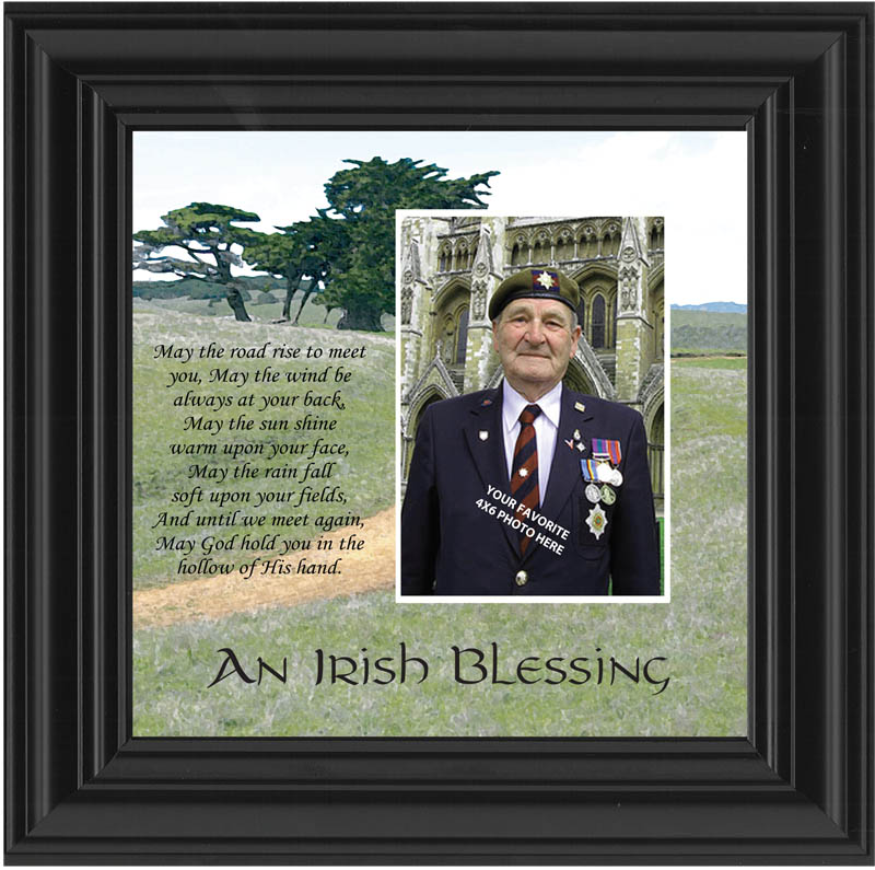 An Irish blessing photo frame