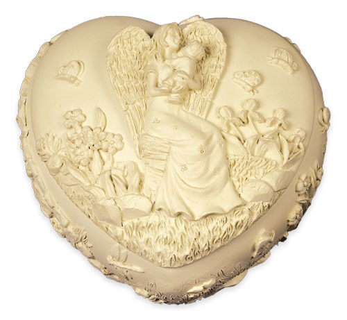 Heart Shaped angel keepsake box