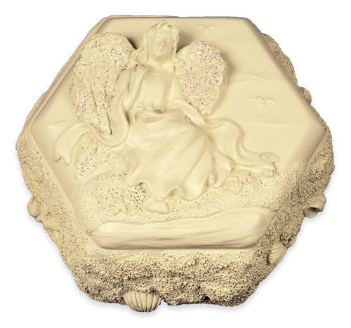 hexagon shaped angel keepsake box