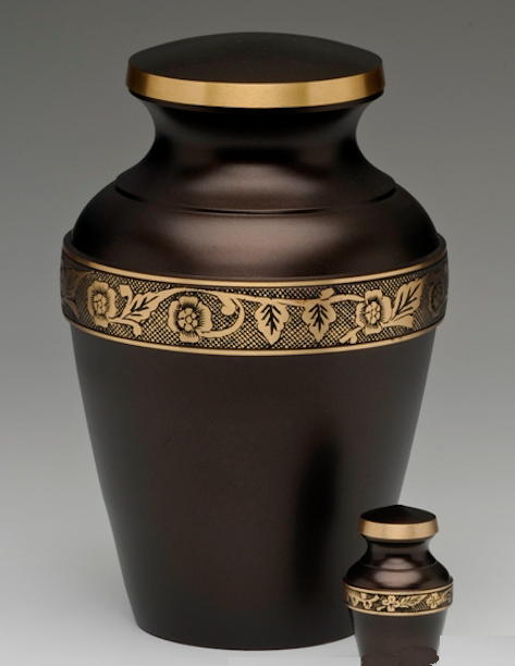 bronze and brass urn