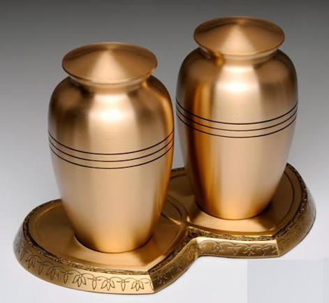 brass compagnion cremation urns