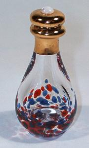 red and blue tear bottle