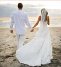 Picture of Bride and Groom on Beach