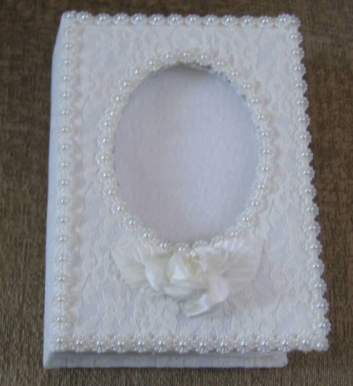 Ivory Beaded Wedding Album