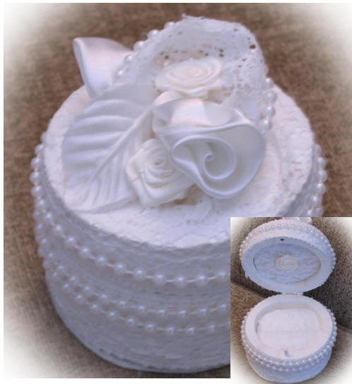 Lace Wedding or engagement ring box