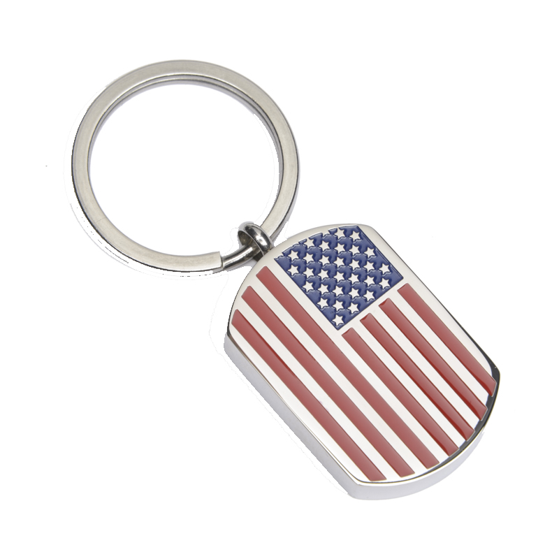 Keychain Dog Tag – USA Flag