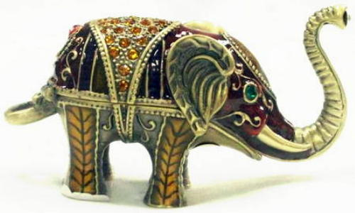 Jeweled keepsake elephant urn