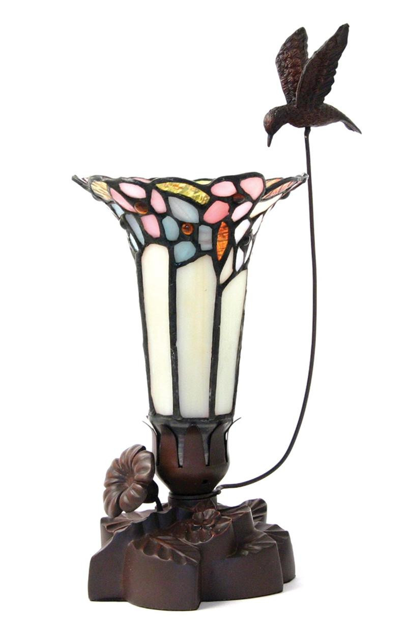 Stained Glass Tiffany Style Memorial Keepsake Urn Lamps