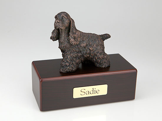 Bronze figurine pet urns