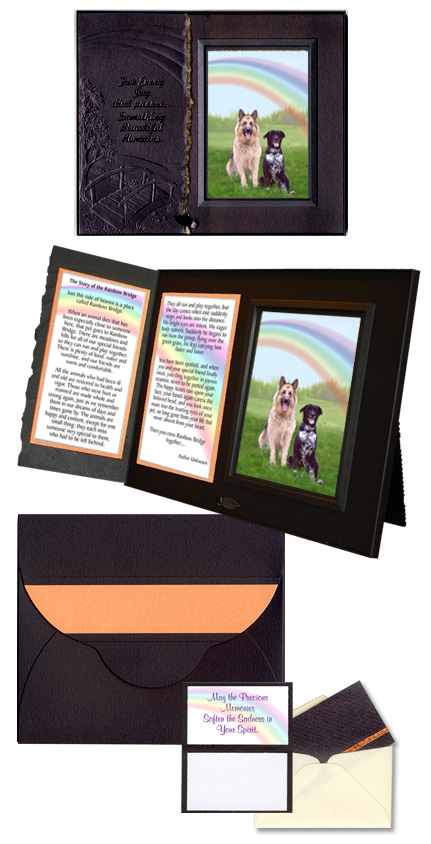Pet memorial keepsake photo frame and poem