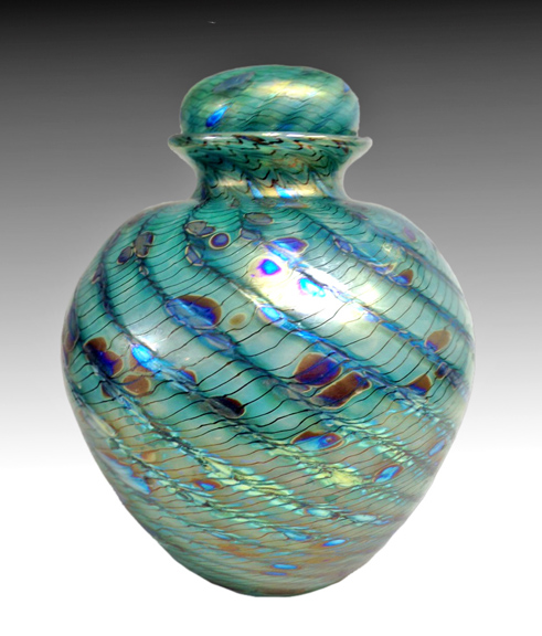 Hand blown glass urnUrns