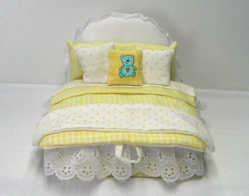 Yellow Child's cremation Bed box