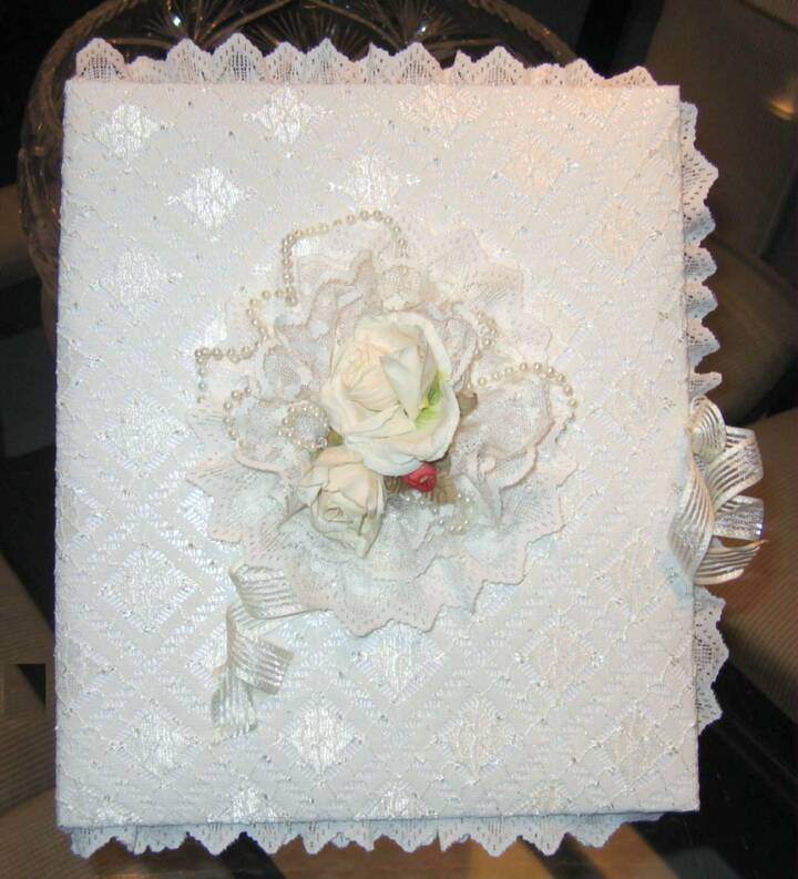 cream rose wedding album
