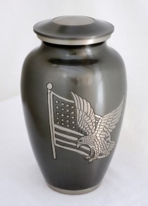 Eagle and flag millitary urn