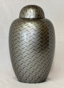 chrome color cremation urn