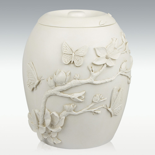 Cherry Blossom Cremation urn For Ashes