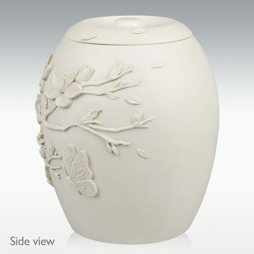 Cherry Blossom urn side view