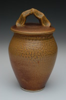nutmeg colored porcelain urn