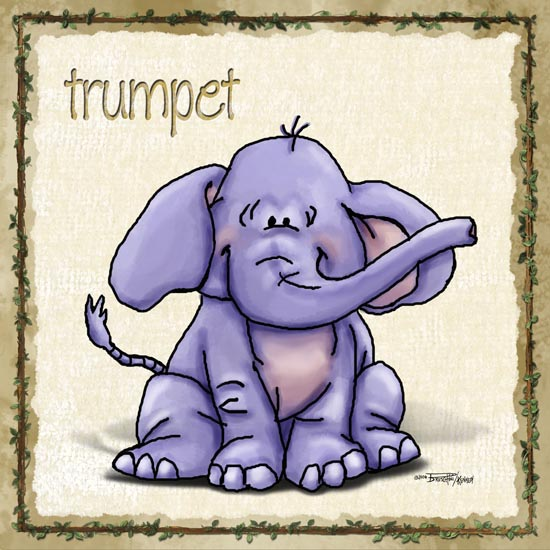 Baby purple elephant wall art