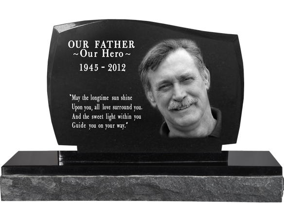 granit photo engraved memorial headstones