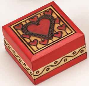 Large red heart keepsake urn