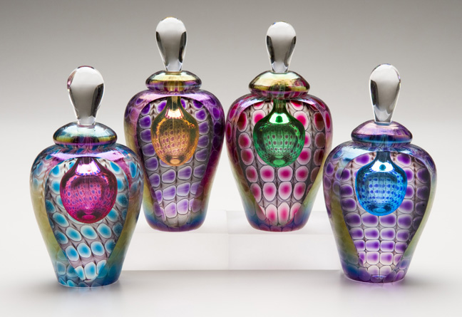 hand blown glass keepsake cremation vessle