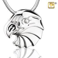 Sterling Silver Eagle Rhodium Plated Cremation Pendant