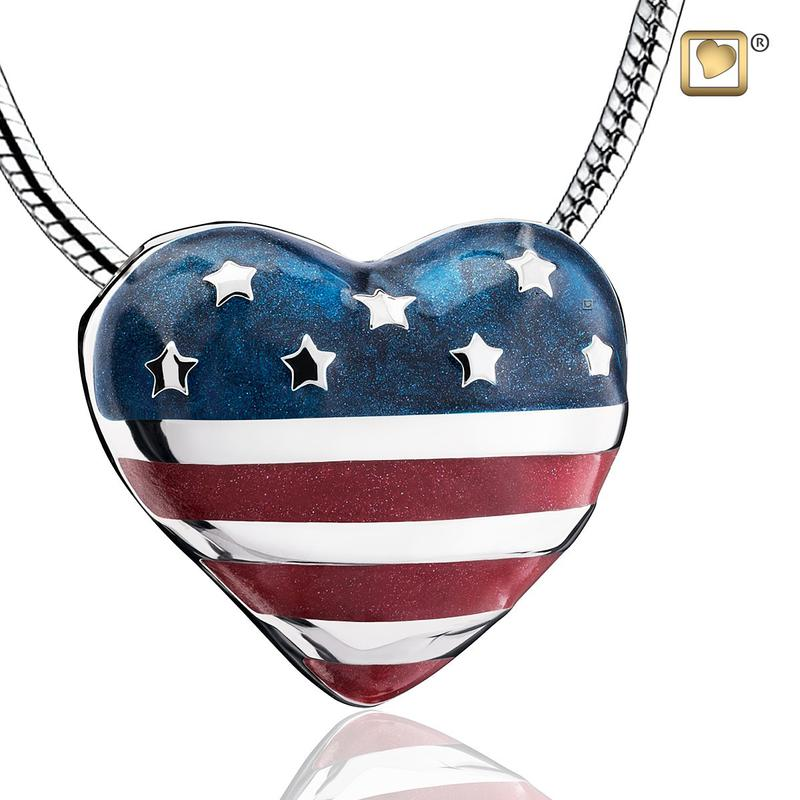 Stars & Stripes Cremation Pendant