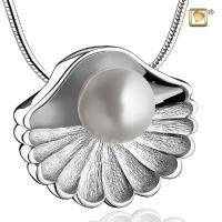 Sea Shell Pearl Cremation Pendant