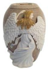 Angel cremation urn
