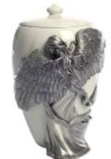 Pewter Angels Embrace urn