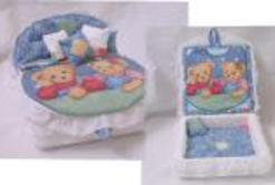 Blue denim Child's cremation Bed box