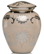 Peach Enamel Brass Small Cremation urn